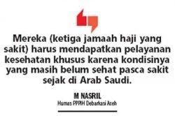 Tiga Jamaah Haji Dirawat di RSUZA Setelah Tiba di Tanah Air