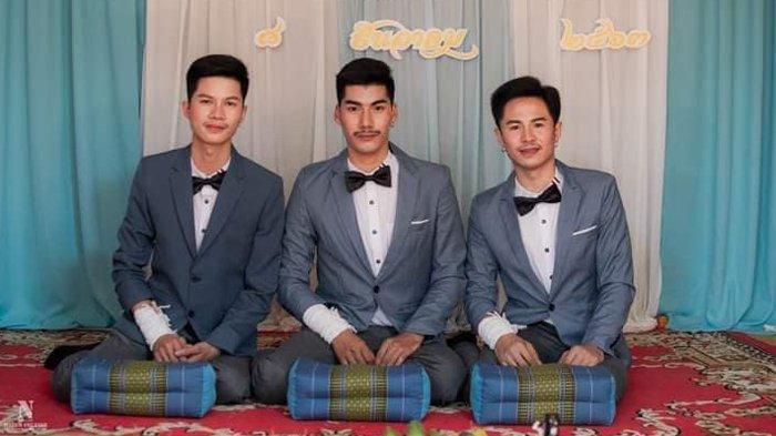Heboh 3 Pria Thailand Menikah Hingga Viral di Medsos, Ternyata Pihak Keluarga Merestui
