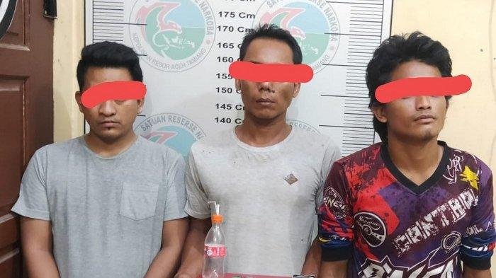 Pesta Sabu-sabu, Tiga Pemuda Kaloy Diamankan Polres Aceh Tamiang