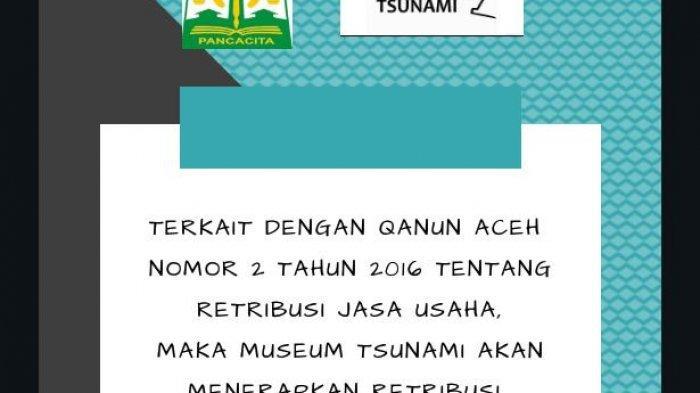Museum Tsunami Tetapkan Besaran Tiket Masuk, Ini Reaksi Aktivis PRB