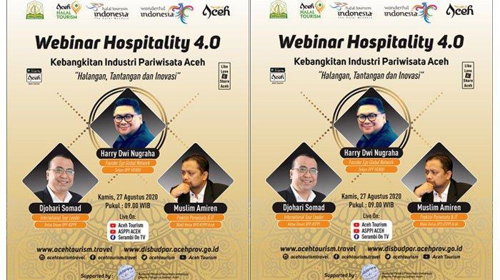 Tilik Masa Depan Pariwisata, Disbudpar Aceh Gelar Webinar Hospitality 4.0