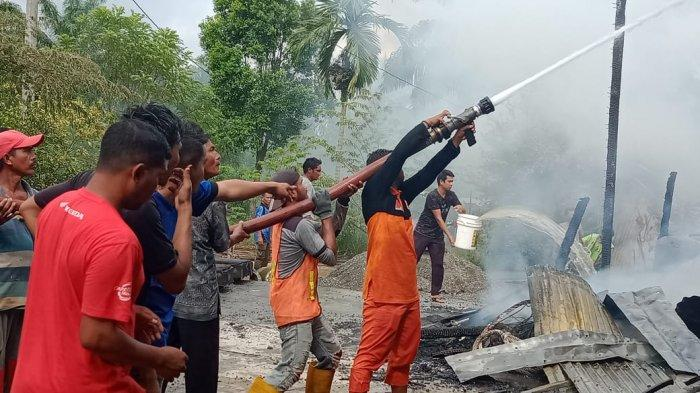 Rumah Toko di Nagan Raya Terbakar, Api Berasal dari Dapur