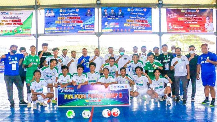 Sapu Bersih Pertandingan di Grup B, Tim Futsal Aceh Besar Lolos ke PORA 2022