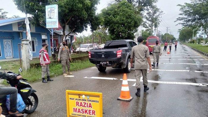 Tak Pakai Masker, 34 Orang Terjaring Razia di Aceh Timur