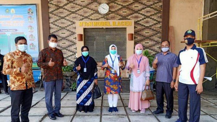 Tim Prokes Pencegahan Covid-19 Pantau MTsN Model Banda Aceh dan Beri Apresiasi, Meski Temukan Ini