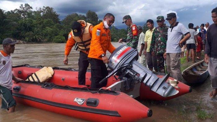 Pencarian Korban Tenggelam di Krueng Wolya Tekendala Aliran Sungai Keruh