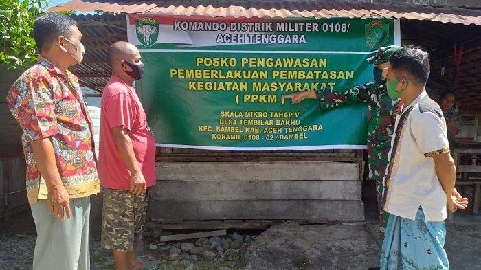 Dandim 0108/Agara Perintahkan Babinsa Sosialisasikan PPKM Cegah Covid-19 Skala Mikro