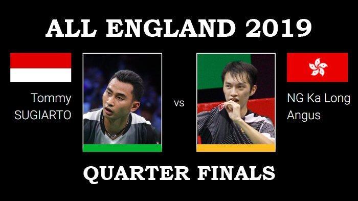 Jadwal Perempat Final All England 2019 - Tommy Sugiarto Lawan Pemain yang Singkirkan Anthony Ginting