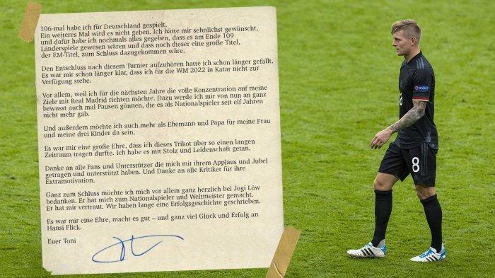 Resmi Pensiun dari Timnas Jerman, Toni Kroos Tulis Surat Perpisahan, Ingin Fokus di Real Madrid
