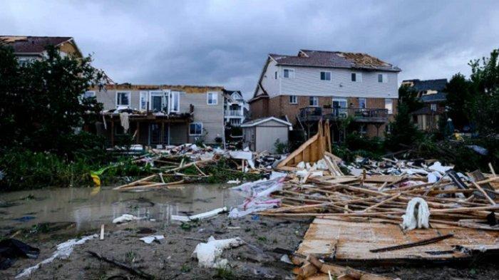 Tornado Hancurkan Sebagian Kota Ontario, Kanada, Belum Ada Laporan Korban Jiwa