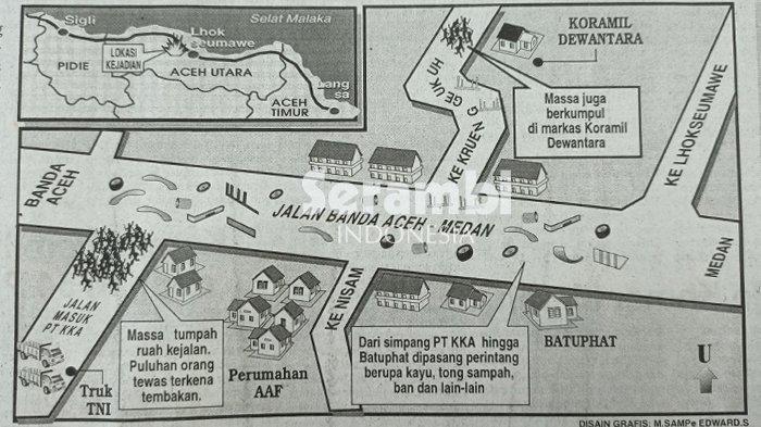 21 Tahun Tragedi Simpang KKA Aceh Utara, Aparat dan AGAM Salahkan Provokator