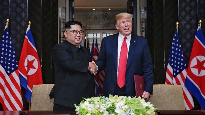 Amerika tak Pertimbangkan Sanksi untuk Korut, Trump: Aku Memiliki Hubungan Baik dengan Kim Jong Un