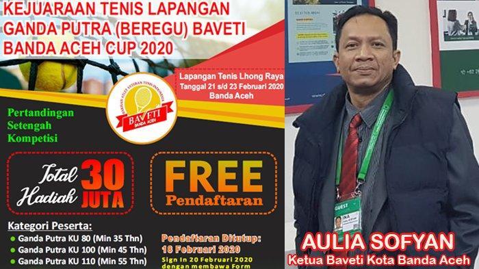 Atlet Veteran Tenis Indonesia Banda Aceh Gelar Turnamen Beregu Putra, Total Hadiah Rp 30 Juta