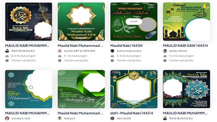 Kumpulan Link Download Twibbon Ucapan Maulid Nabi Muhammad SAW 2021, Bisa Untuk Status WA, FB & IG