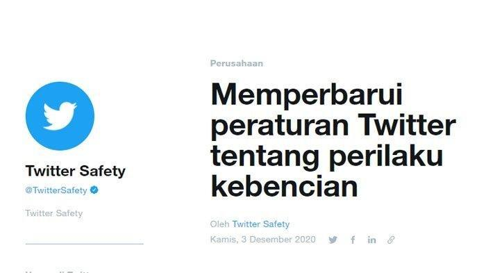 Keluarkan Kebijakan Baru, Twitter Larangan Kicauan Mengandung SARA, Hukumannya Serius
