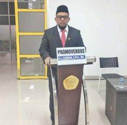 Ketua Fraksi PAN DPRK Aceh Besar Raih Gelar Doktor