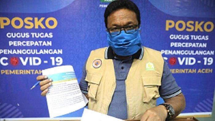 Jumlah Positif Corona di Aceh tak Bertambah, PDP Bertambah Satu Orang