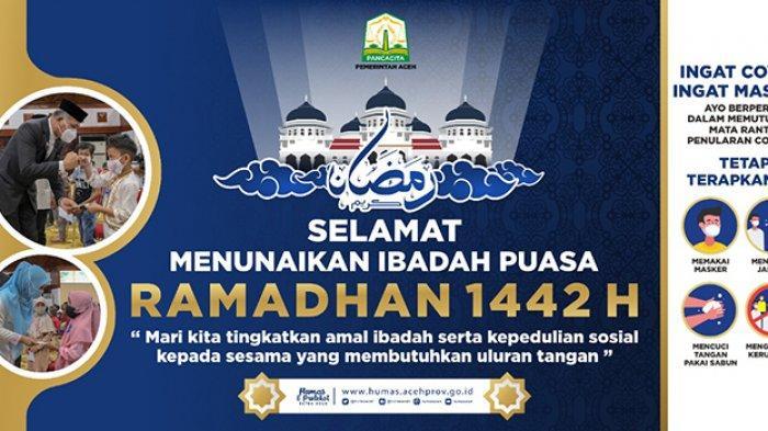 Selamat Menunaikan Ibadah Puasa Ramadhan 1442 H dari Gubernur Aceh