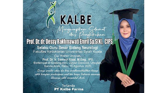 Kalbe Ucapkan Selamat atas Pengukuhan Prof. Dr. dr. Dessy Rakhmawati Emril Sp.S(K), CIPS