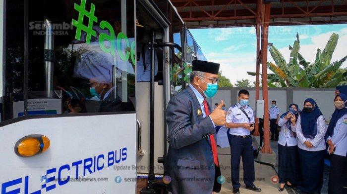 FOTO - Gubernur Nova Uji Coba Bus Listrik Pertama di Aceh, Hari Diuji Keliling Kota Banda Aceh - uji-coba-bus-listrik-2.jpg