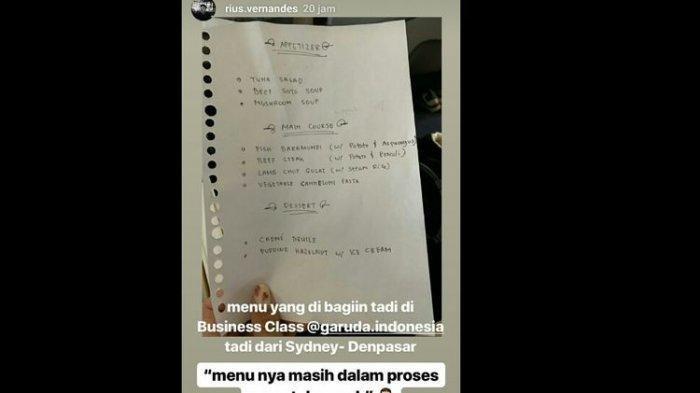 Dapat Kritikan Karena Kartu Menu Bertulis Tangan, Garuda Indonesia Laporkan 2 YouTuber ke Polisi
