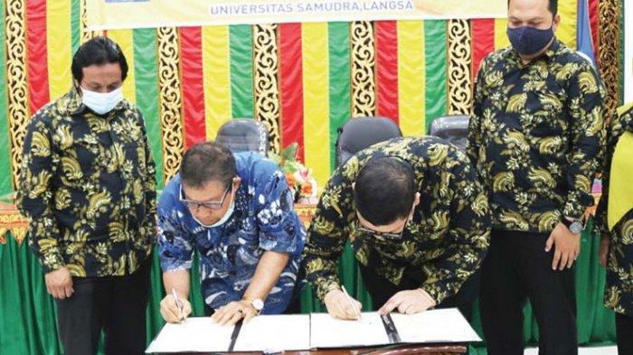 Unsam Langsa dan Undhar Medan Teken MoU Program Merdeka Belajar-Kampus Merdeka