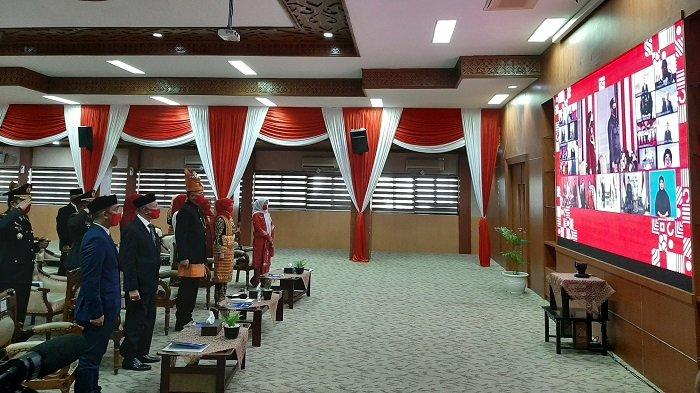 Plt Gubernur Aceh Ikuti Peringatan Detik-detik Proklamasi di Istana Merdeka Secara Virtual