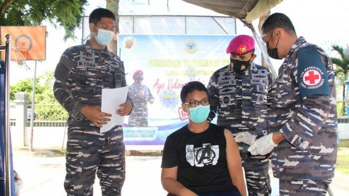 Masyarakat Dewantara Antusias Ikut Vaksin Covid-19 di Pangkalan TNI AL Lhokseumawe