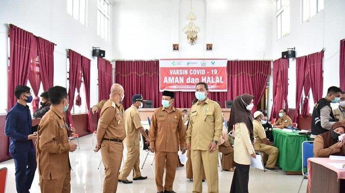 Plt Bupati Bener Meriah Dailami Pantau Vaksinasi Covid-19 untuk ASN dan Tenaga Non ASN