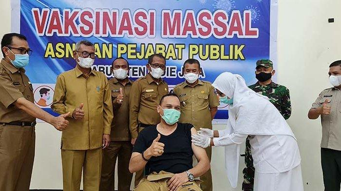 3.606 ASN Pidie Jaya Divaksin, yang Menolak Siap-siap Kena Sanksi