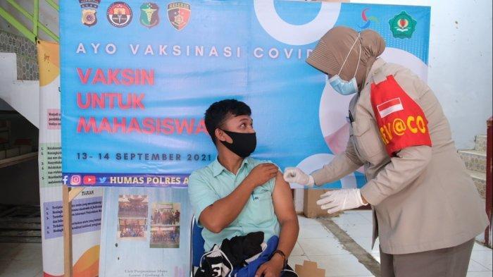 Vaksinasi Presisi Merdeka Goes to Campus, Polres Aceh Selatan Sasar Mahasiswa Poltas
