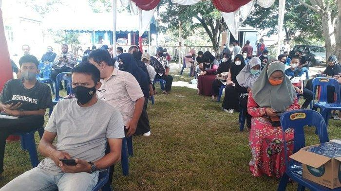 Dua Satker Polda Aceh Gelar Vaksinasi Massal di Aceh Besar, 518 Orang Divaksin
