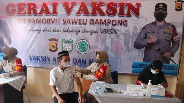 Ditpamobvit Polda Aceh Gelar Gerai Vaksin di 4 Kecamatan Aceh Besar