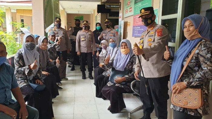 Karo Ops Polda Aceh Bersama Kapolres Bireuen Cek Kesiapan Vaksinasi Massal