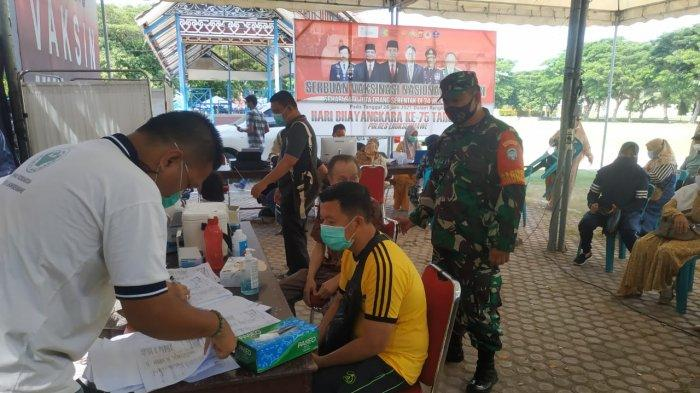 Kodim Aceh Utara Gelar Vaksinasi Massal di Lapangan Hiraq Lhokseumawe