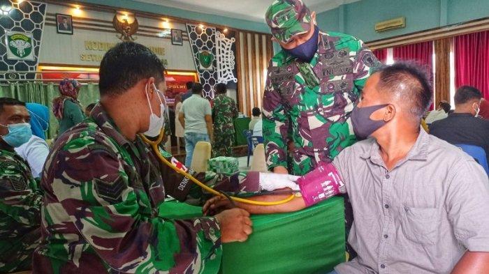Warga Vaksin di Makodim 0102/Pidie Dapat Sembako, Vaksinasi Digelar Alumni Akabri Tahun 1989