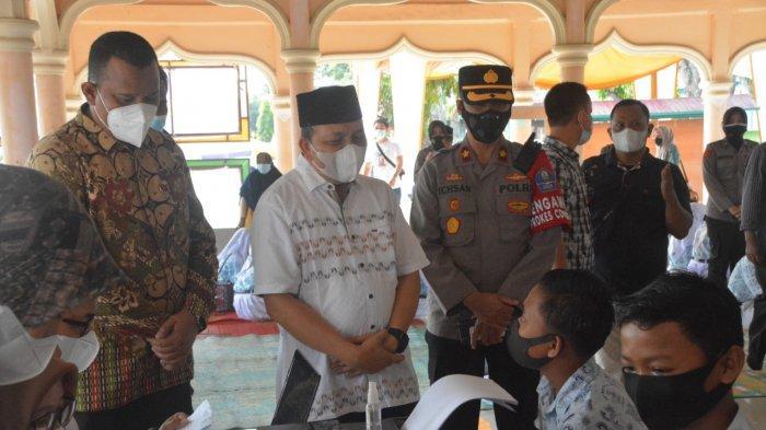 Wakil Walikota Langsa dan Forkopimda Pantau Vaksinasi Perdana Pelajar