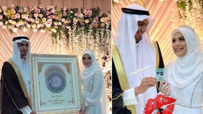 Vebby Palwinta Menikah dengan Razi Bawazier, Diberi Mahar 500 Dinar dan Tamu Hadir Secara Virtual