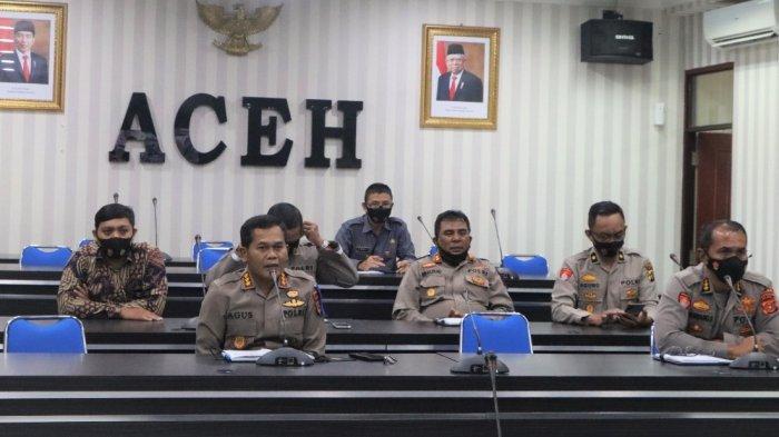 Ikuti Vicon dengan Kadiv Tik Polri, Karo Ops Polda Aceh Bahas Perkembangan Layanan Polisi 110