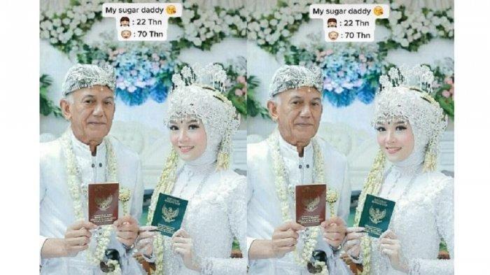 Viral Pasangan Pengantin Beda Usia 48 Tahun, Wanita Ini Sebut Foto Suaminya Editan dan Masih Muda