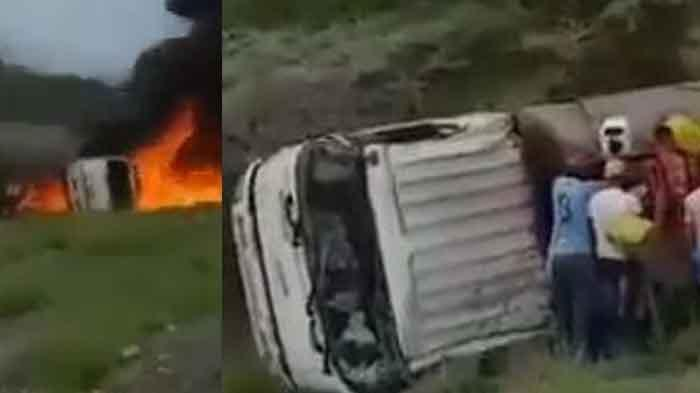Viral Ambil Minyak dari Truk yang Terbalik, Tujuh Orang Meninggal Disambar Api