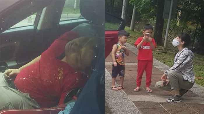 VIRAL Anak Menangis Ayahnya Meninggal di dalam Mobil saat Menunggu Ibu Interview Kerja