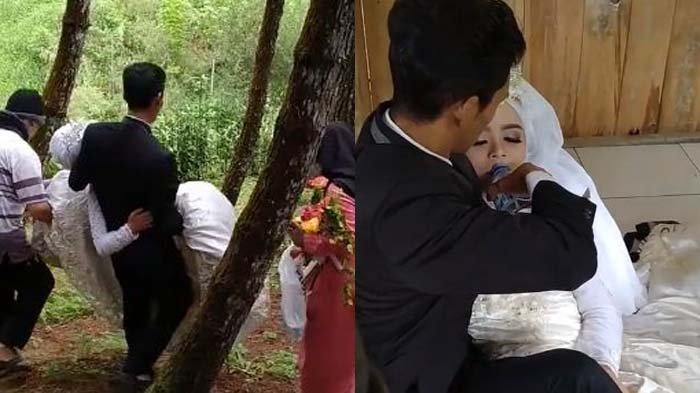 Viral calon pengantin pingsan saat foto prewedding