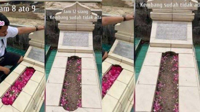 Viral Bunga Tabur di Makam Hilang, Warganet Murka: Dicuri Lalu Dijual Lagi
