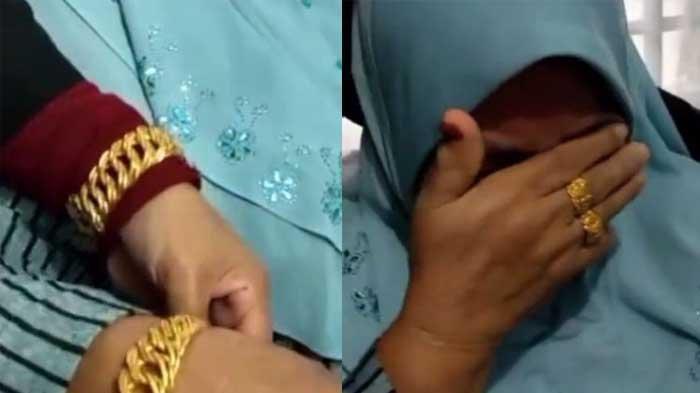 VIRAL Kakak Beradik Kumpul Uang Berikan Hadiah untuk Ibu, Gelang Emas Tersemat pada Pergelangan
