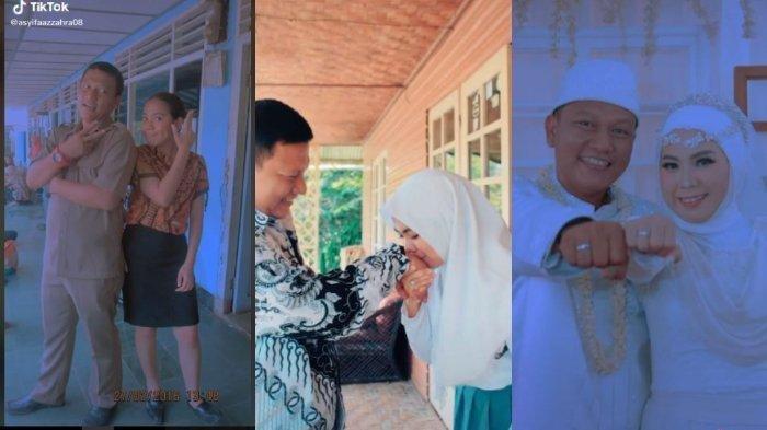 Viral kisah perjalanan cinta siswi menikah dengan guru, akui sempat ditunggu suami 2,5 tahun dulu setelah lulus sekolah. (Tangkapan Layar Akun TikTok @tahugejrot0808.)