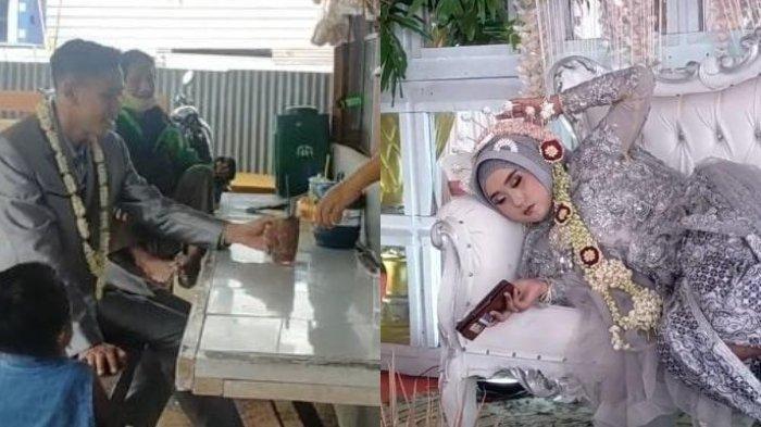 VIRAL VIDEO Pesta Pernikahan Santuy, Suami Nongkrong di Warung, Istri Rebahan di Pelaminan