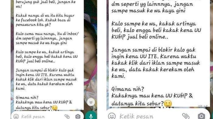 VIRAL Chat Penjual Ancam Pembeli karena Tanya Produk di WA, Pakar Hukum Sebut Penjual Bisa Dipidana