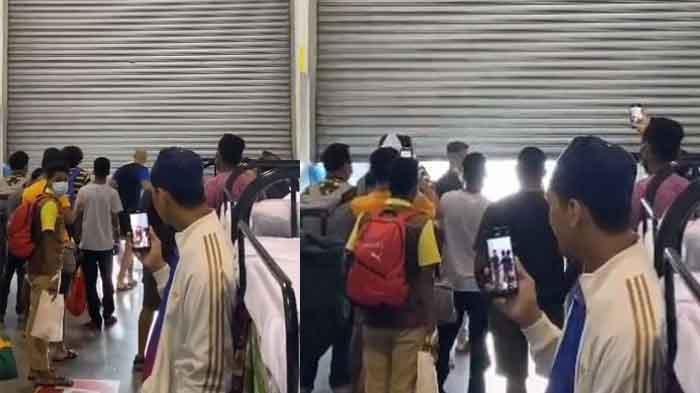 Kehebohan Pasien Eks Positif Covid-19 saat Pintu Gudang Karantina Dibuka, Berbaris untuk Pulang
