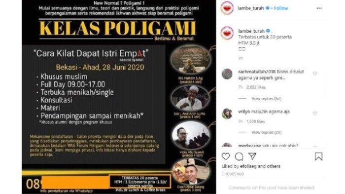 Viral Poster Kelas Poligami Beredar di Media Sosial, Harga Mulai Rp 1,5 Juta